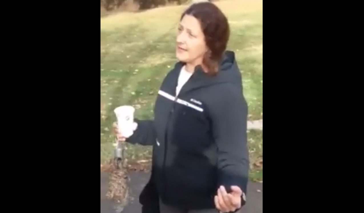 Rasheed Albeshari was accosted by a woman identified as Denise Slader who was caught on camera making anti-Muslim remarks at Lake Chabot Regional Park in Castro Valley on Dec. 7, 2015.
