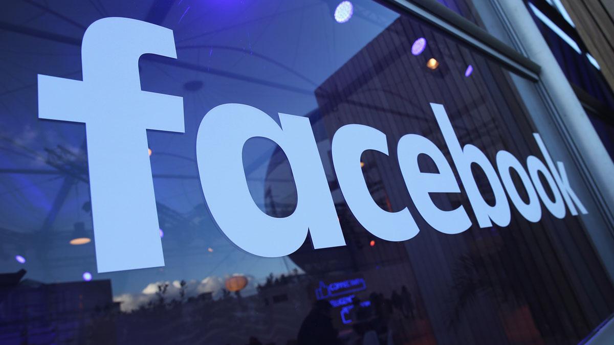 A file photo shows the Facebook logo.