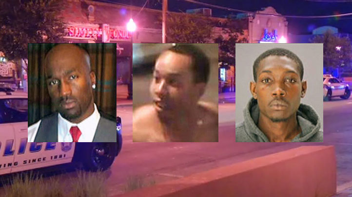 Dallas police say Terrence Cowherd (left) was held, beat, and then fatally stabbed by Julian Terence Martin, Jr. (center) and Jerry Brown, Jr. (right) in while trying to break up a fight on Greenville Ave. on Aug. 17, 2013.