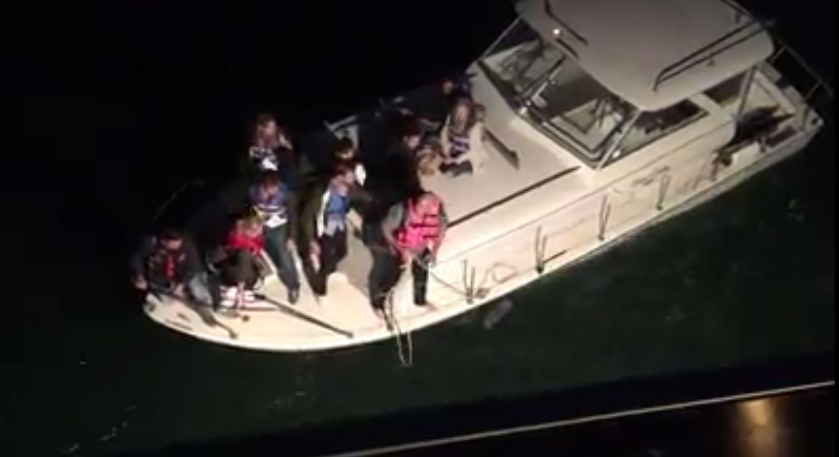 An Alcatraz Island ferry rescued 10 people on board a sinking boat in the San Francisco Bay on Thursday.