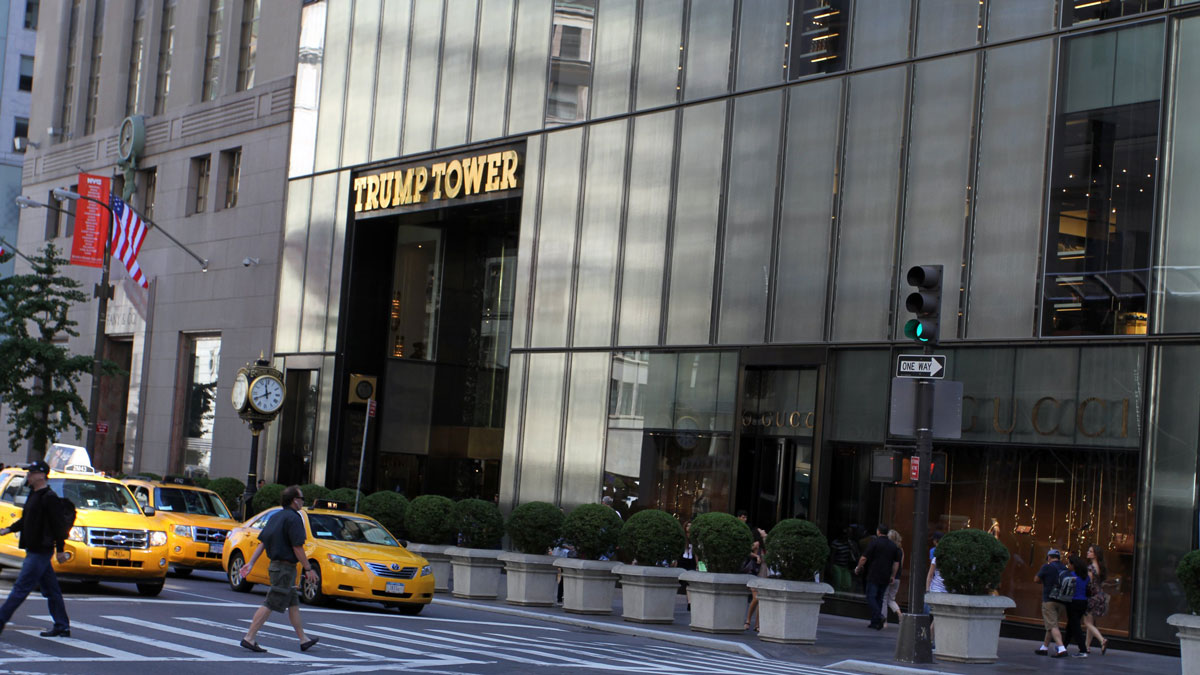 A file photo of the Trump Tower skyscraper at 5th Avenue and 56th Street from 2013 in New York City.