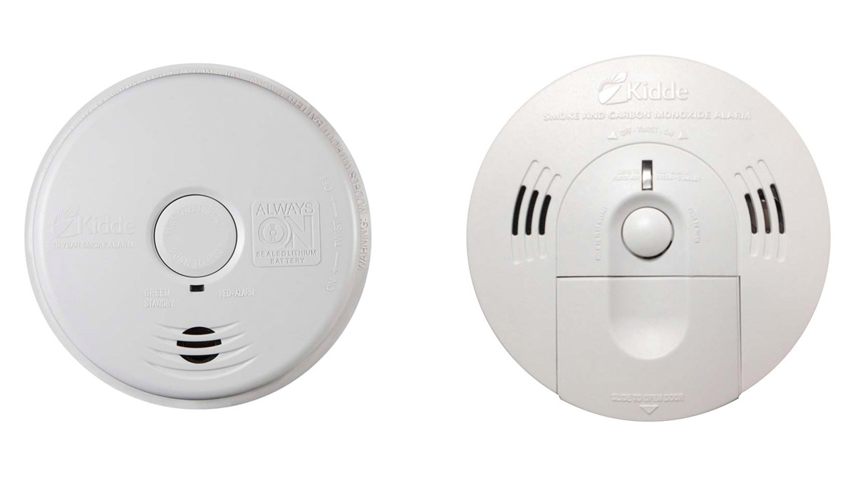 Three Kidde smoke alarm models have been recalled: i12010S, il2010SCO, and KN-COSM-IBA.