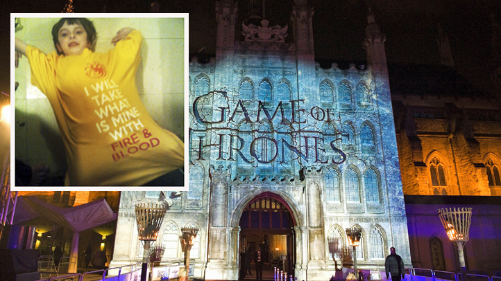 Game of Thrones 4th season premiere - London. A projection on to the Guildhall for Sky Atlantic s premiere of the fourth season of Game of Thrones at The Guildhall, London. Picture date: Tuesday March 25, 2014. Photo credit should read: Ian West/PA Wire URN:19389879