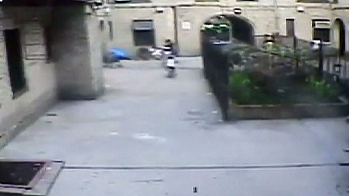 Surveillance footage from one of the shootings allegedly perpetrated by