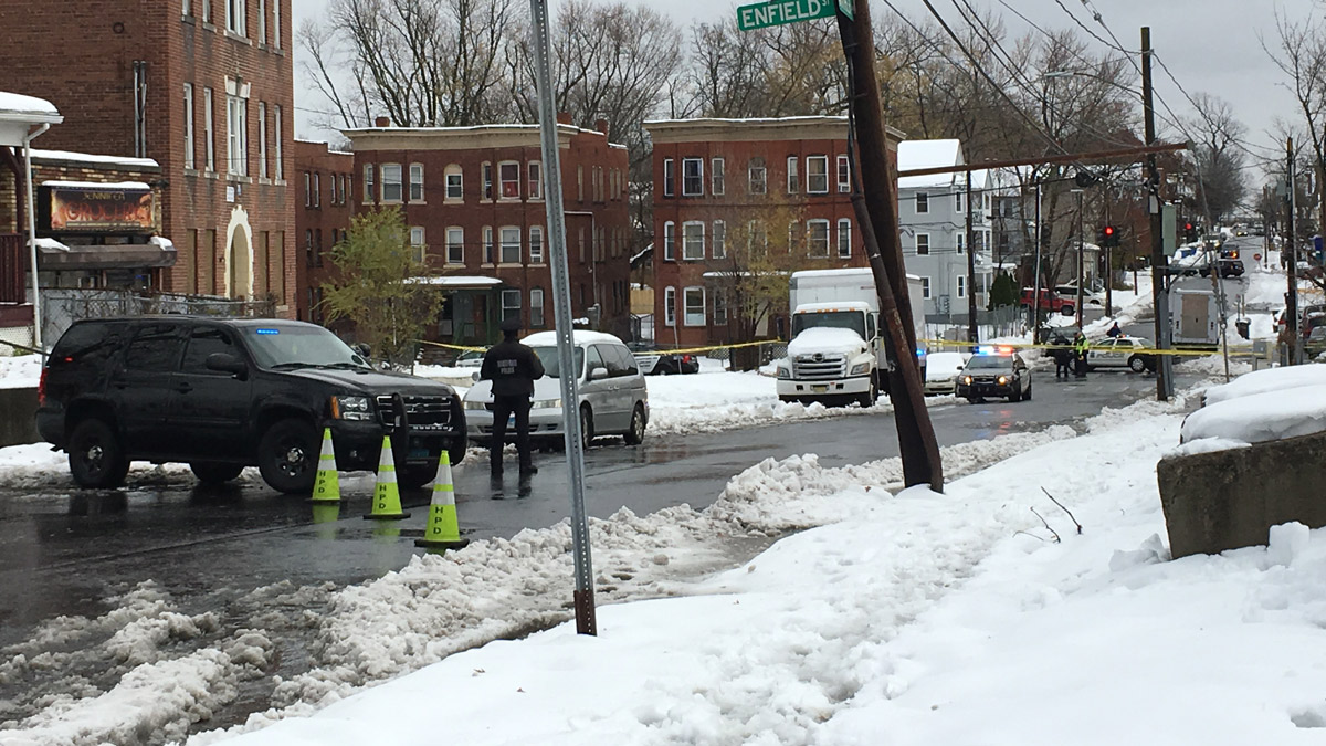 Police are investigating an officer-involved shooting on Garden Street in Hartford.