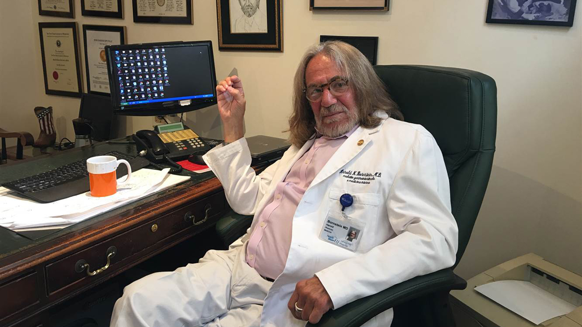 Dr. Harold Bornstein in his New York City office on Friday, August 26, 2016. He told NBC News that he stands by his assessment of his longtime patient, Donald Trump, as the man who would be the healthiest president in history.