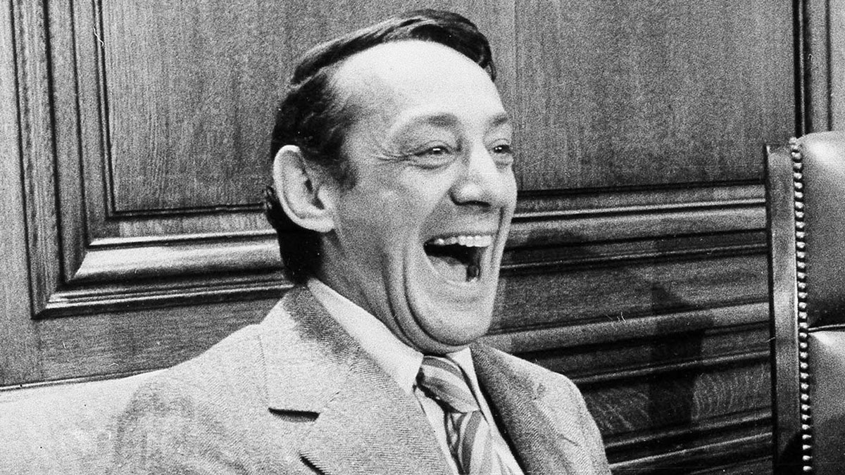 This file photo from April 1977 shows San Francisco Supervisor Harvey Milk in the mayor's office during the signing of the city's gay rights bill in San Francisco.