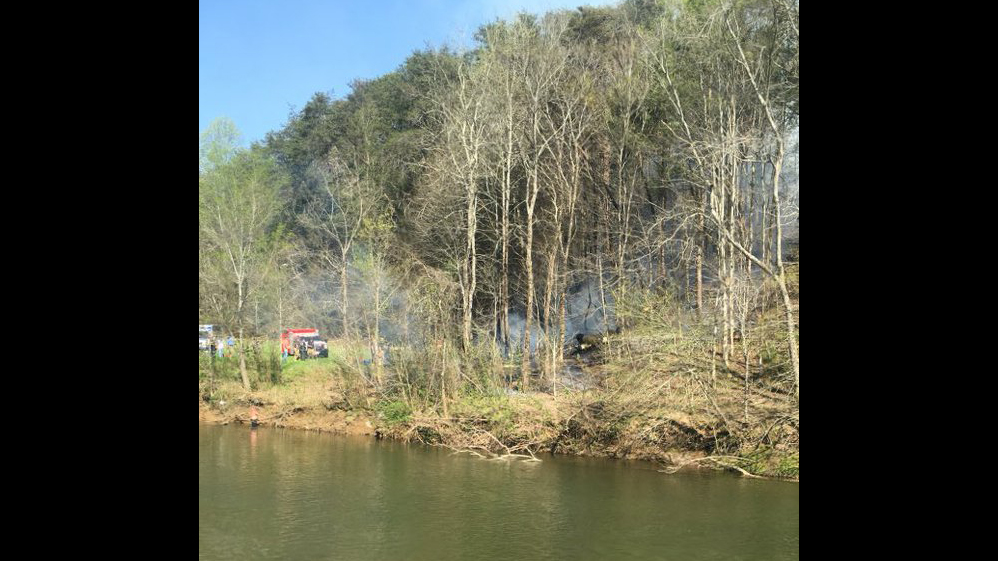 Authorities responded to reports of a crashed helicopter in east Tennessee on Monday, April 4, 2016.