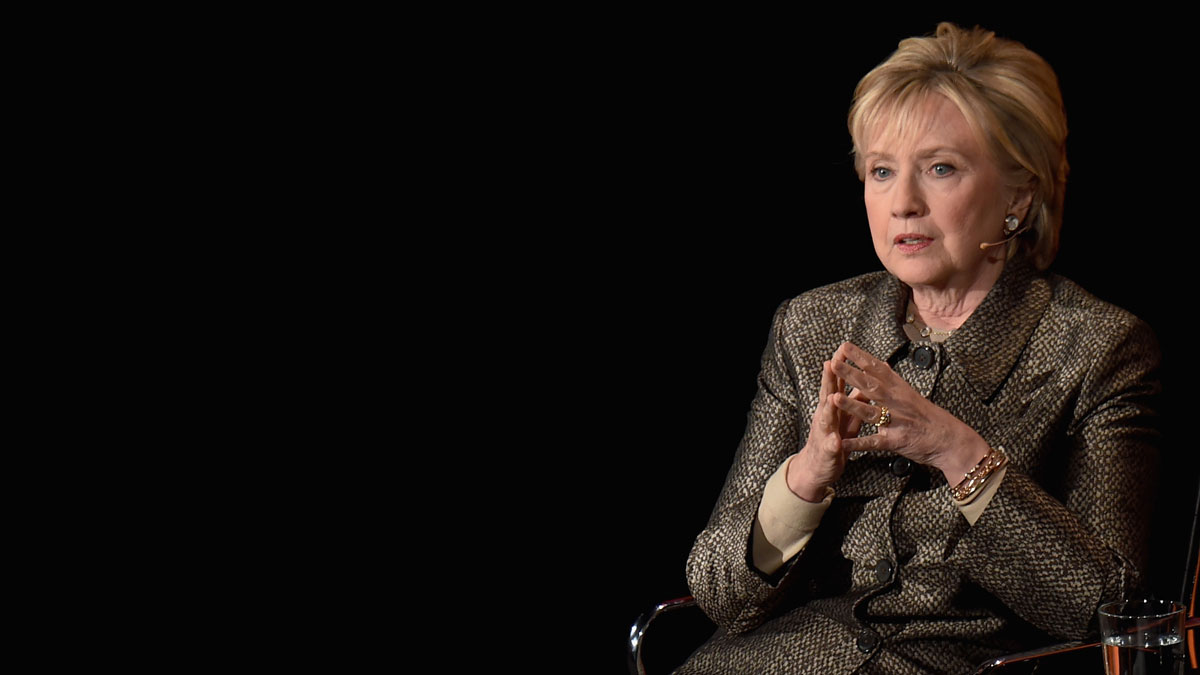 In this April 6, 2017, file photo, former United States Secretary of State, Hillary Clinton speaks during the Eighth Annual Women In The World Summit at Lincoln Center for the Performing Arts in New York City.