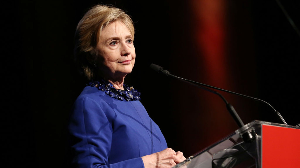 Former Secretary of State Hillary Clinton speaks onstage at the Ms. Foundation for Women 2017 Gloria Awards Gala & After Party at Capitale on May 3, 2017 in New York City.