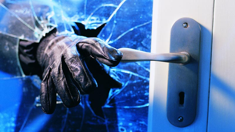 Milford police investigate two overnight burglaries.