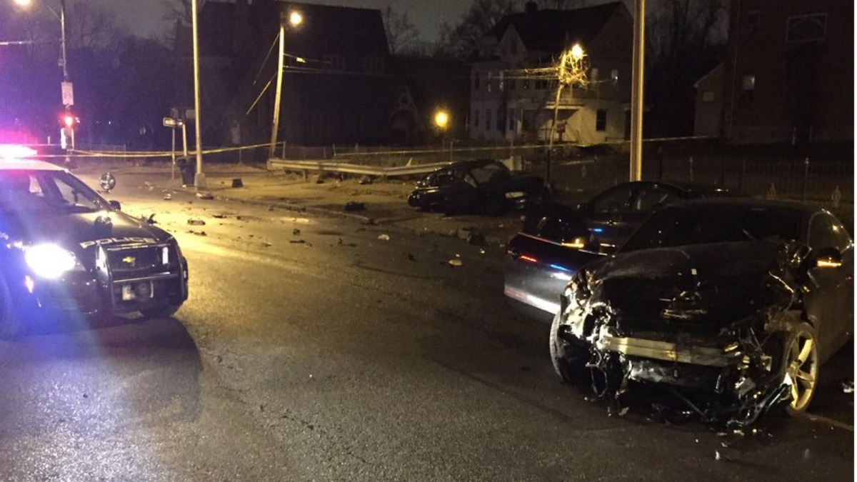 One driver was killed and another is in custody after a crash on Mahl Avenue in Hartford Saturday morning.