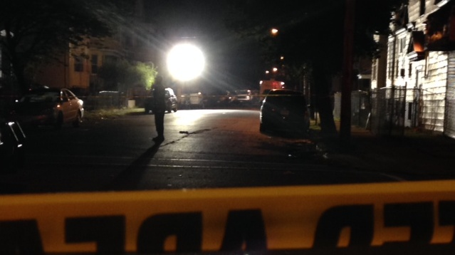 Police are investigating the shooting in Irvington, New Jersey.
