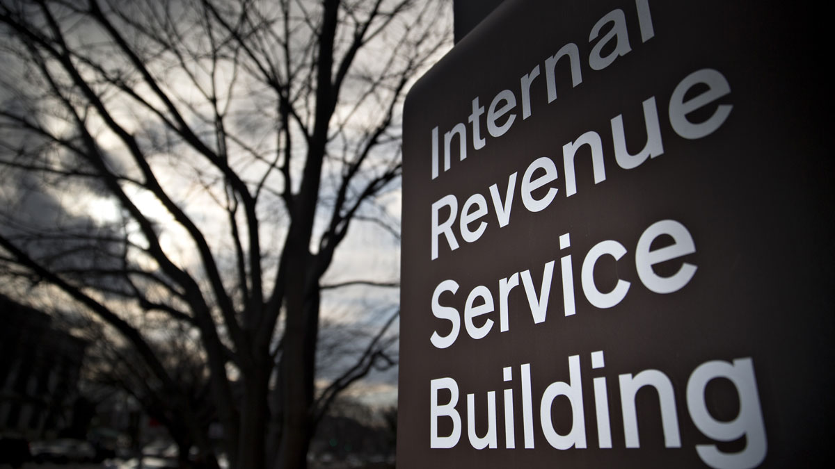 A file photo of the IRS headquarters building in Washington, D.C.