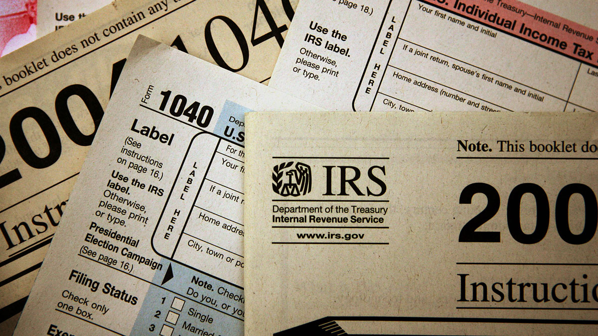 Federal tax forms distributed in Chicago. The IRS will send out mailings to those affected by the cyberattack.