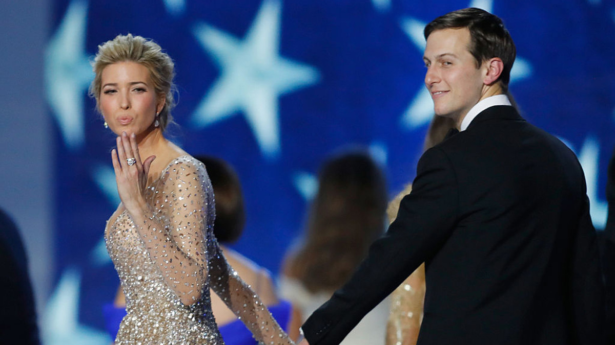 In this file photo, Ivanka Trump and husband Jared Kushner dance at the Freedom Inaugural Ball at the Washington Convention Center January 20, 2017 in Washington, D.C. President Trump was sworn today as the 45th U.S. President.
