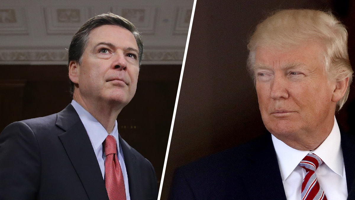 Former FBI Director James Comey (left), is set to testify about the private conversations he had with President Donald Trump (right) during a hearing at the Senate intelligence committee on Thursday, June 8, 2017.