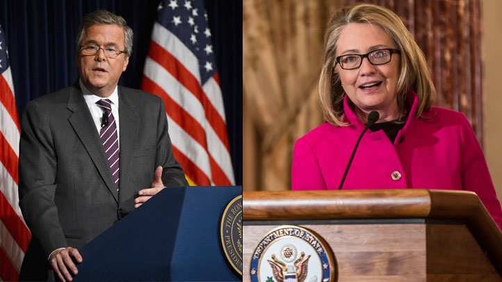 Jeb Bush and Hillary Clinton (Photo composite from Getty Images)