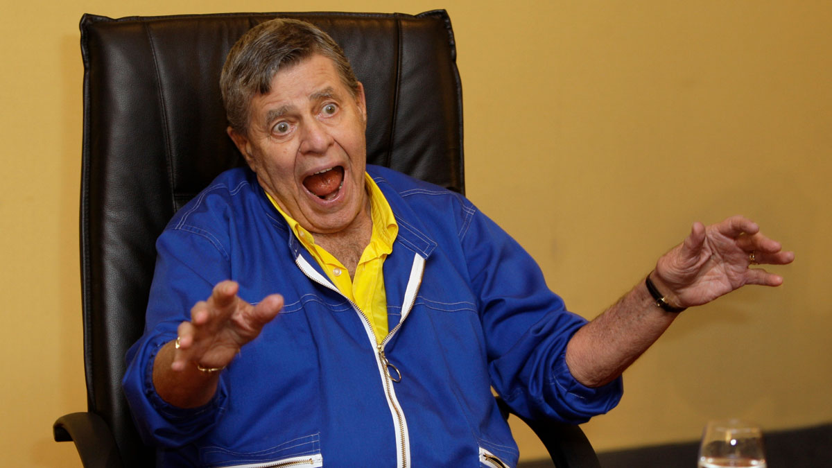U.S. comedian Jerry Lewis at a press conference where it was announced that Lewis would star in the upcoming production 'Max Rose', during the 62nd International film festival in Cannes, southern France, Friday, May 15, 2009.