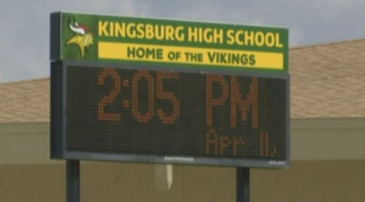 The Kingsburg Joint Union High School District is now the second in California to allow staff members to carry concealed weapons on campus, according to NBC affiliate KSEE.