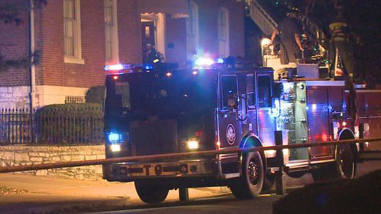 A Catholic church near downtown St. Louis was targeted early Thursday by a suspected arsonist.