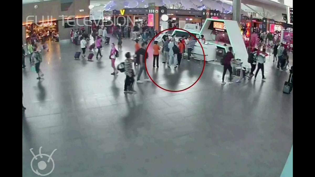 Still from closed-circuit television footage that purportedly shows the fatal attack on the half-brother of North Korean leader Kim Jong Un at the international airport in Kuala Lampur, Malaysia, on Feb. 13, 2017.