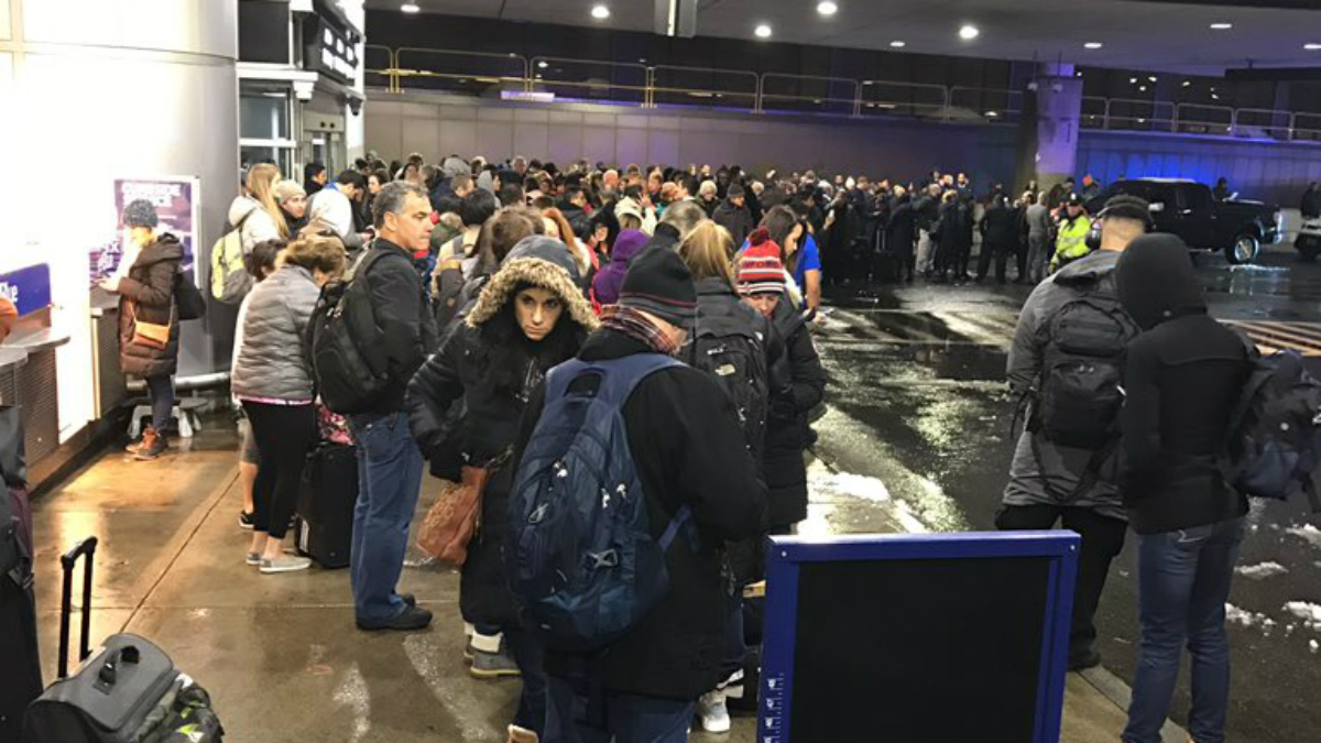 Evacuations are underway at Logan International Airport due to a carbon monoxide issue.