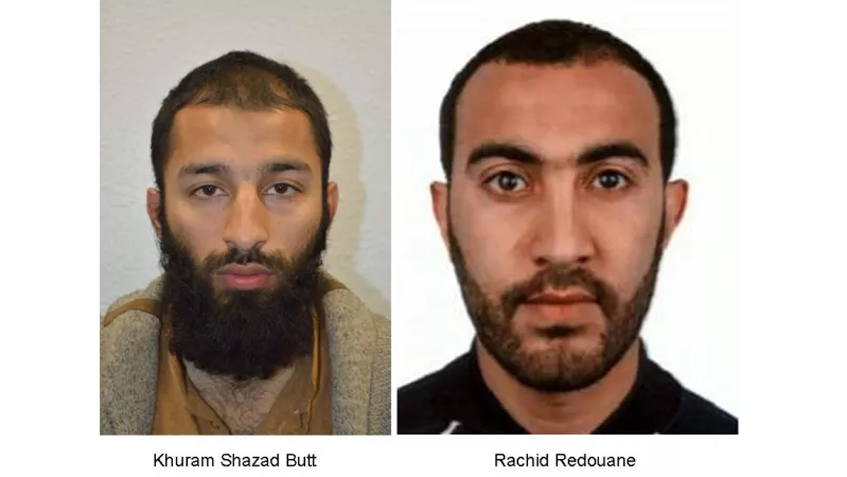 Two of the three men suspected of killing at least seven people in London on Saturday, June 3, 2017.