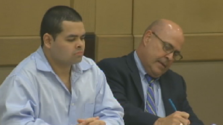 Lopes (right) in court on Monday.