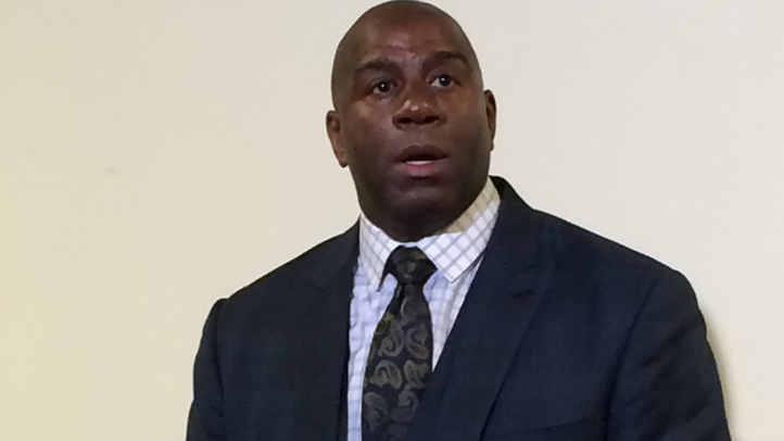 Magic Johnson addressed the recorded racist remarks by Los Angeles Clippers owner Donald Sterling just after they surfaced last month at an event in Gary, Indiana.