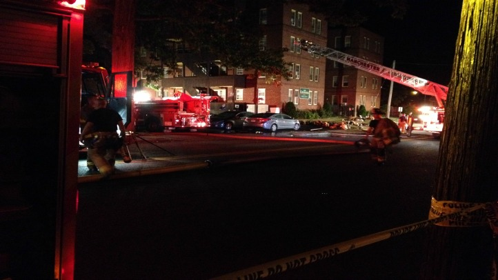 One person is dead and several others are displaced after fire broke out in Manchester.