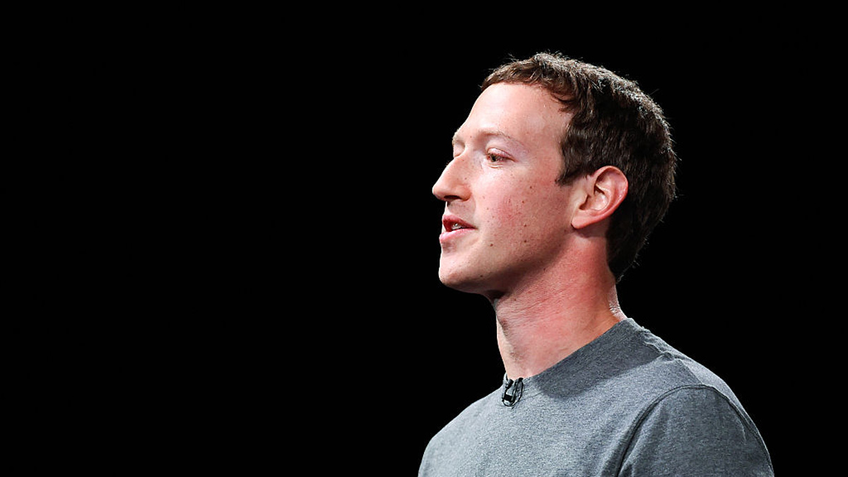 In this file photo, founder and CEO of Facebook Mark Zuckerberg gives his speech during the presentation on February 21, 2016 in Barcelona, Spain.