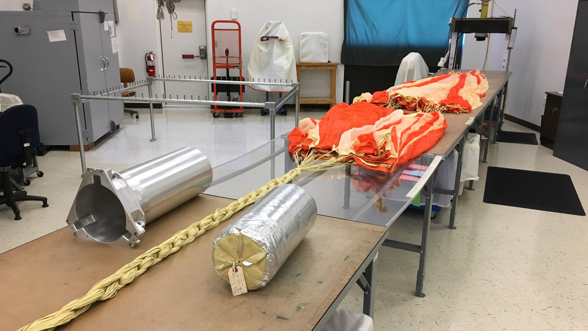Pioneer Aerospace, of South Windsor, manufactured the parachute used on the InSight lander to slow its descent to Mars in November.