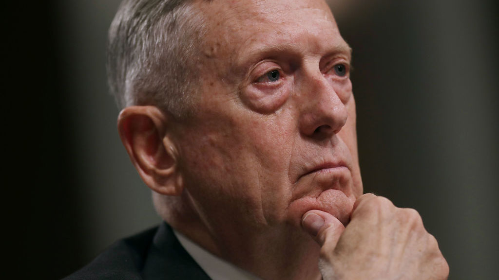 U.S. Defense Secretary James Mattis testifies before the Senate Armed Services Committee during a hearing in the Dirksen Senate Office Building on Capitol Hill June 13, 2017, in Washington, D.C.