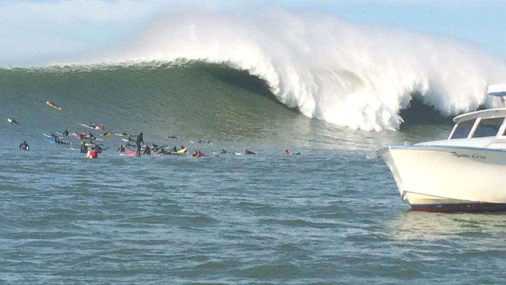 Big waves at Mavericks, but no surf contest, Thursday, Feb. 4, 2016.