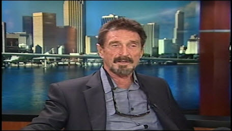 Nearly a year after his much-publicized flight from Belize, John McAfee wants back in to Silicon Valley.