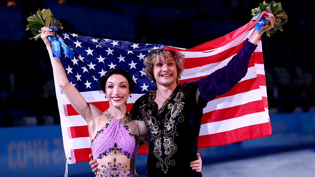Meryl Davis and Charlie White lived up to America's huge expectations in the ice dance competition in Sochi on Monday.