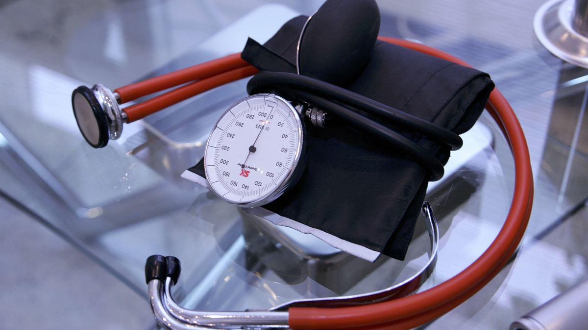 A stethoscope is seen at a doctor's office in this file photo.