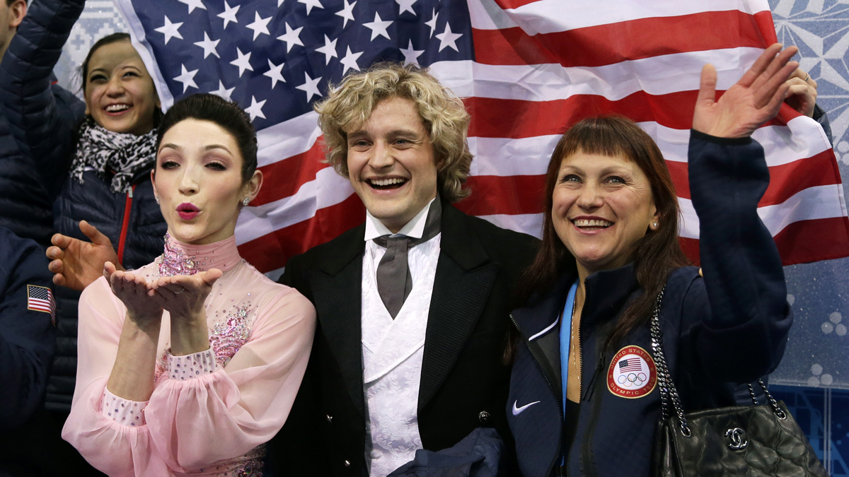 The Americans can thank Meryl Davis and Charlie White for prolonging their medal chances in the team figure skating competition.