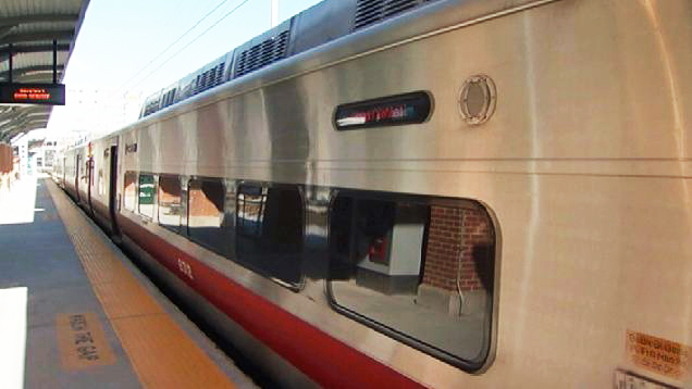 There are delays on Metro-North's New Haven line after a fire destroyed a switching control house near Cos Cob on Saturday.