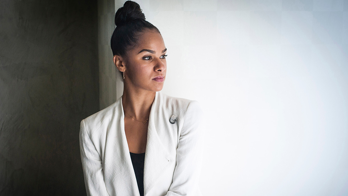 Ballerina Misty Copeland is photographed at the National Press Club Building in Washington, D.C.
