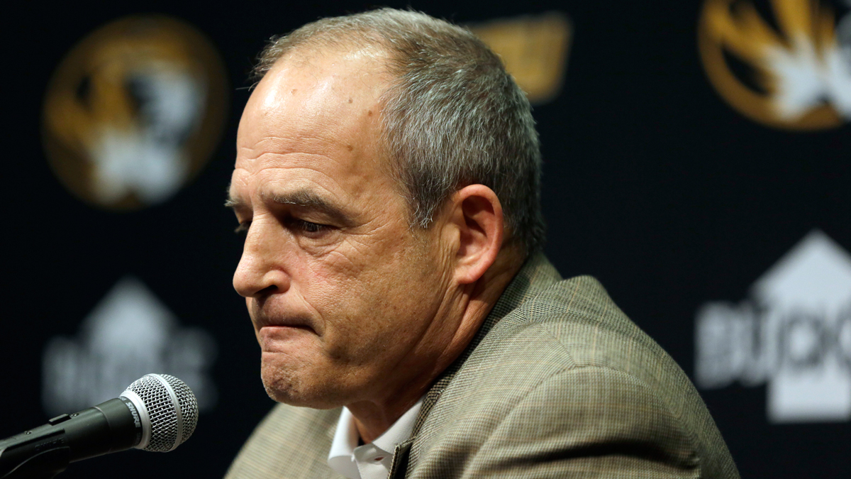 Missouri head football coach Gary Pinkel speaks to the media Monday, Nov. 9, 2015, in Columbia, Mo. Football will resume at Missouri following the resignation of University of Missouri system president Tim Wolfe after several members of the team, pointing to Wolfe's inaction in handling of racial tensions at the school, announced over the weekend that they would not play until the president was gone.