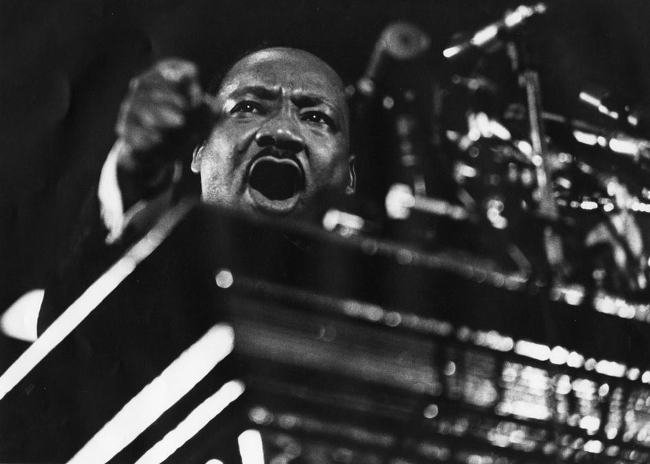 WASHINGTON, DC - FEBRUARY 1968:      Martin Luther King speaks at Vermont Avenue Baptist Church February 1968 in Washington, DC.  (Photo by Matthew Lewis/The Washington Post)