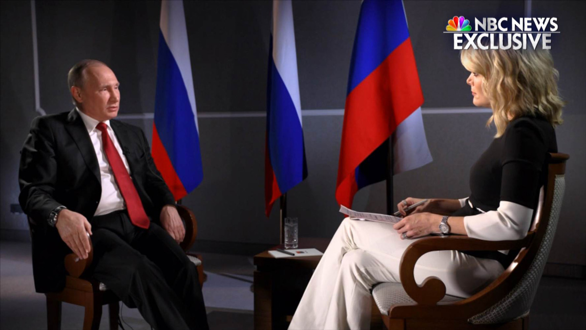 Russia President Vladimir Putin sat down with NBC News' Megyn Kelly in an exclusive interview.