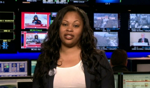 Jahi McMath's mother, Nailah Winkfield, in the NBC Philadelphia studios. March 27, 2014