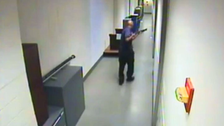 A surveillance video captured footage of Aaron Alexis moving through the hallways of Building 197 at the Washington Navy Yard.