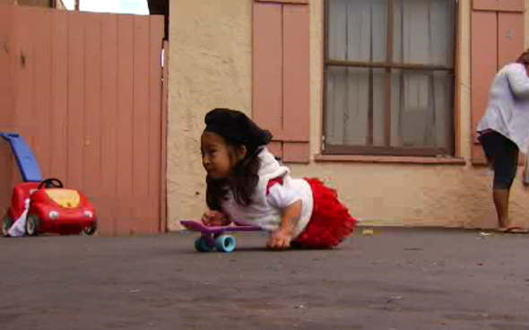 A 4-year-old girl named Milagros, or