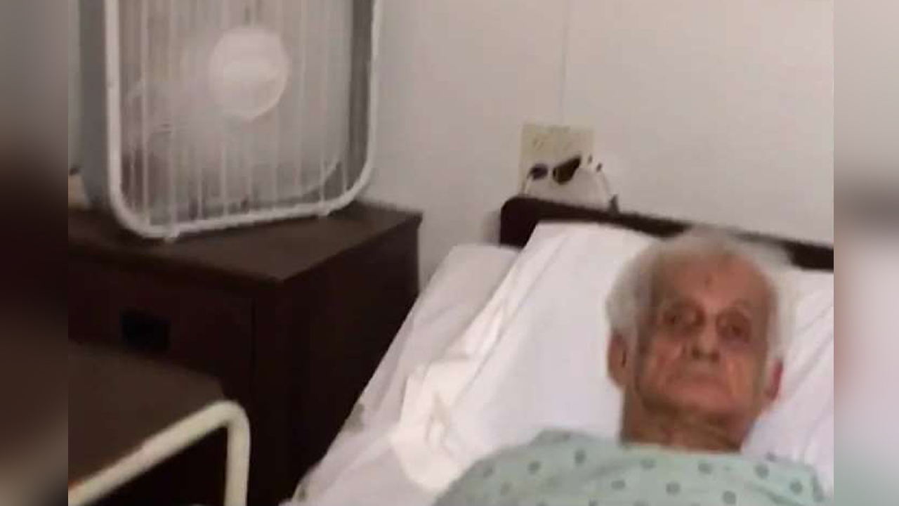 A still from cellphone video from Tuesday, Sept. 12, 2017 shows conditions inside a Hollywood Hills nursing home where residents were kept in sweltering heat before eight of them died.