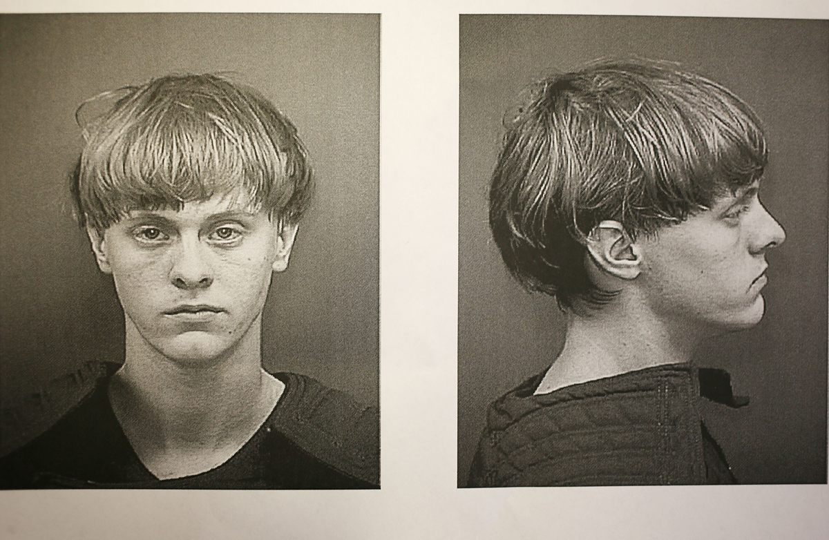 In this handout, Dylann Storm Roof is seen in his booking photo after he was apprehended as the main suspect in the mass shooting at the Emanuel African Methodist Episcopal Church that killed nine people on June 18, 2015, in Charleston, South Carolina. The Department of Justice announced nearly a year later it will pursue the death penalty during his trial.