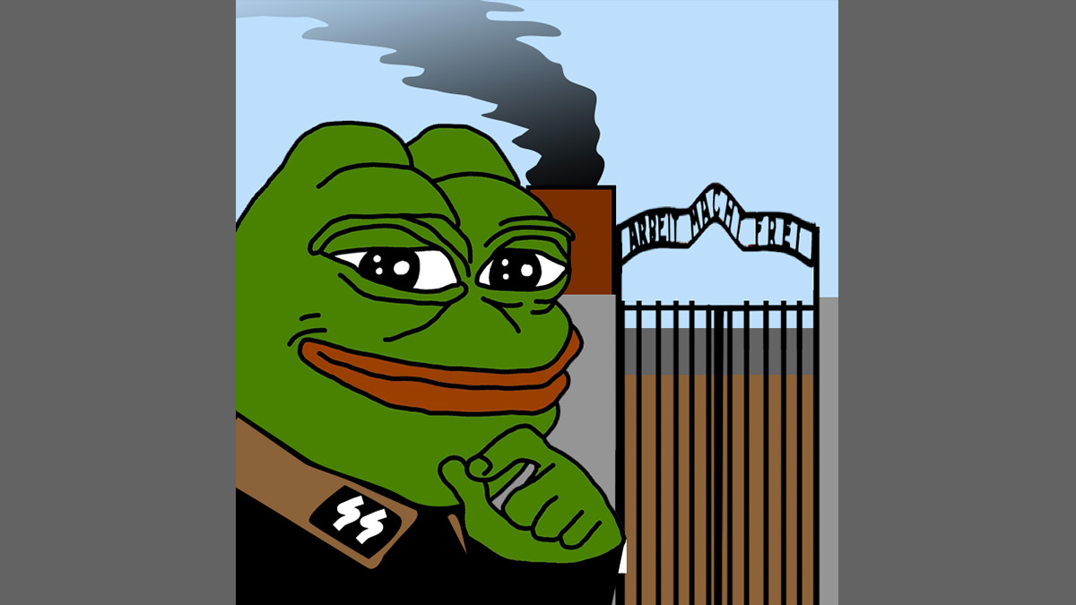 "While Pepe's origin as the ""feels good man"" is inoffensive, it has recently been appropriated for bigoted, anti-Semitic themes according to the Anti-Defamation League."